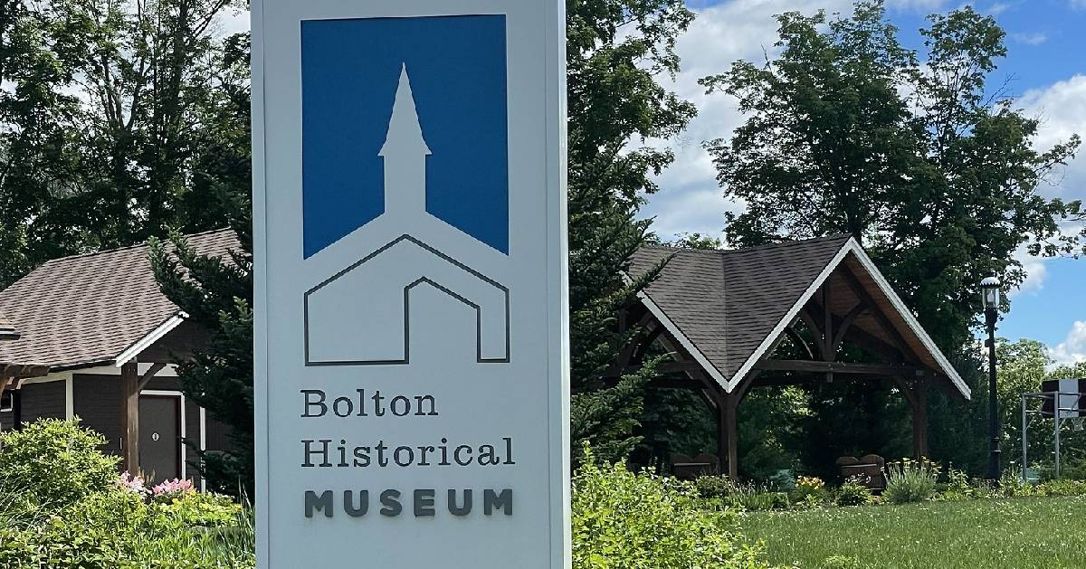 Bolton Historical Museum sign