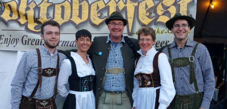 Adirondack Brewrey Oktoberfest group poses